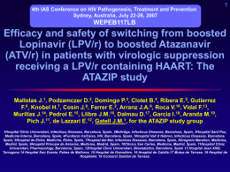 Efficacy and Safety of Atazanavir (ATV) Based HAART in