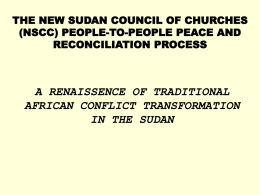 THE NEW SUDAN COUNCIL OF CHURCHES (NSCC) PEOPLE …