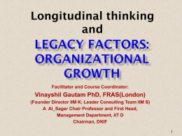 Legacy Sectors and Organizational Growth