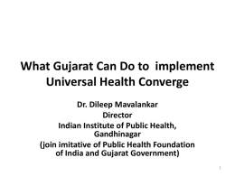 UHC – What Gujarat Can Do