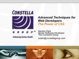 Advanced Techniques for Web Developers The Power of CSS