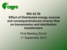 WG A2 50 Effect of Distributed energy sources and