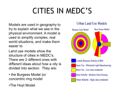 CITIES IN MEDC'S - The Friary School