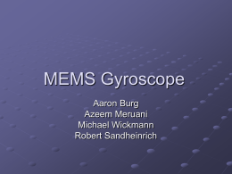 MEMS Gyroscope - Home : Northwestern University