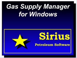 GSM Presentation - Sirius Petroleum Software