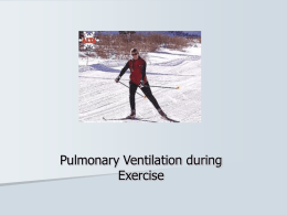 Ventilation during Exercise