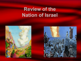 Review of the Nation of Israel