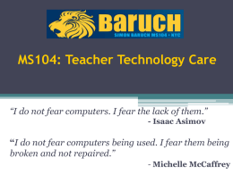 MS104: Technology Care