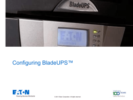 Training - Configuring BladeUPS Solutions and competitive