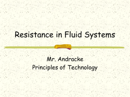 Fluid Power Resistance - University High School