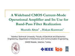 A Wideband CMOS Current-Mode Operational Amplifier and Its