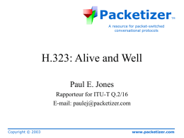 H.323: Alive and Well