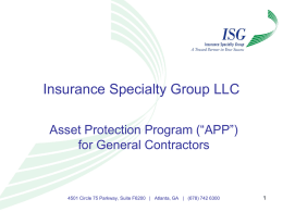 Insurance Specialty Construction Group