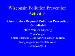 Wisconsin Pollution Prevention Activities