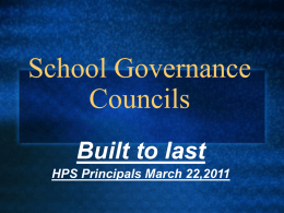 School Governance Councils - Home | Leadership Greater