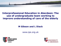 Aberdeen Interprofessional Healthcare Education