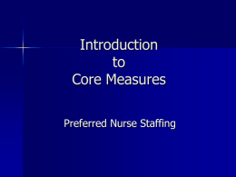 Introduction to Core Measures