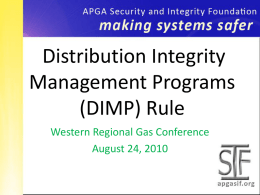 SIF Template Title - Western Regional Gas Conference
