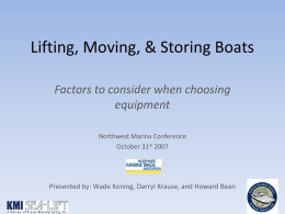 Lifting, Moving, & Storing Boats - Sea-Lift