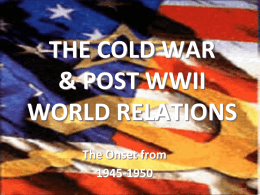 THE COLD WAR - Rankin County School District