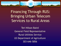 Financing Through RUS