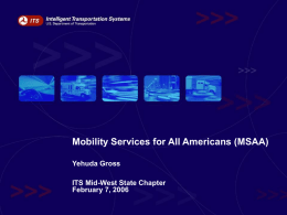 Mobility Services for All Americans (MSAA)