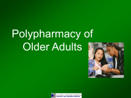 Module 13. Polypharmacy of Older Adults
