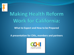 Making Health Reform Real at the Local Level
