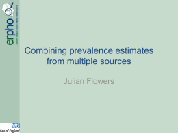 Combining prevalence estimates from multiple sources
