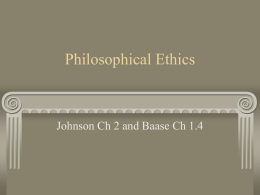 Philosophical Ethics - Bucknell University