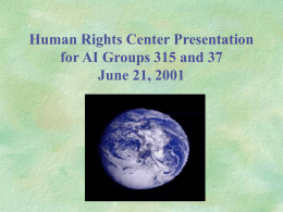 Building a Human Rights Learning Community