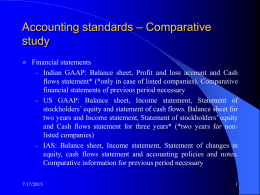 Accounting standards – Comparative study