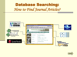 Research with Library Databases