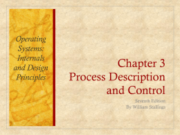 Chapter 3 Process Description and Control