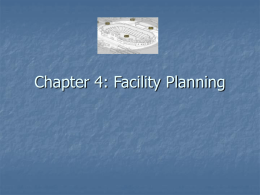 Chapter 4: Facility Planning