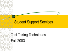 Student Support Services - Arizona Western College