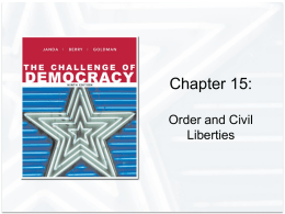 Chapter 15: Order and Civil Liberties