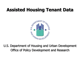 Assisted Housing Tenant Data - University of California