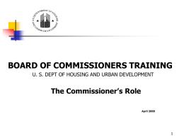 BOARD OF COMMISSIONERS TRAINING