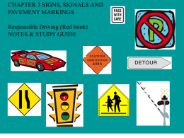 Types of Road Signs - Warren Hills Regional School District