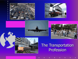 The Transportation Profession