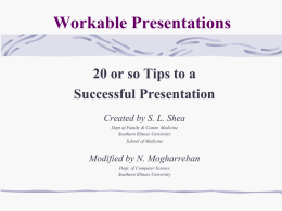 Workable Presentations - Informing Science Institute