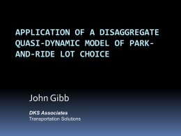 A Disaggregate Quasi-Dynamic Park-and