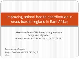 Improving animal health coordination in cross