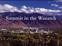 Summit in the Wasatch