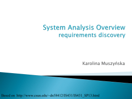 System Analysis Overview approaches, phases and