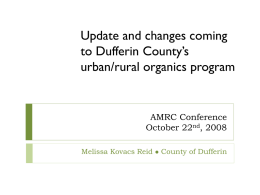 Update and changes coming to Dufferin County's urban/rural