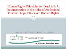 HUMAN RIGHTS 101: Focus on HIV/AIDS-Law