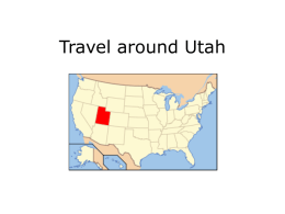 Travel around Utah