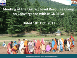 Presentation On Excellence in NREGA
